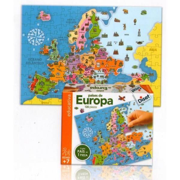 Mapa Evropy Diset