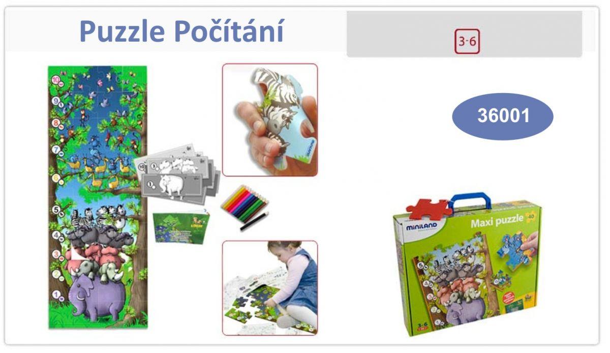 Puzzle safari počítání Miniland
