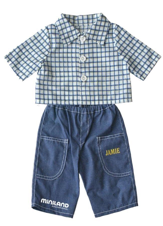 Jeans komplet 32 cm Miniland