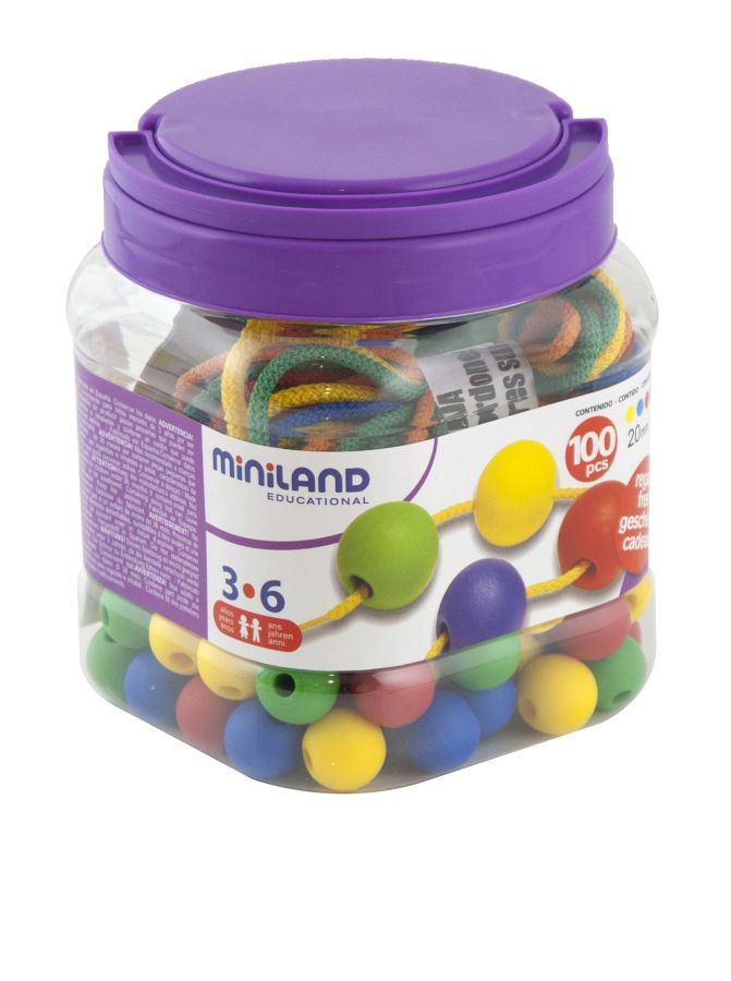Kuličky navlék. 100 ks Miniland