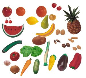 Ovoce,zelenina,ořechy 36 ks Miniland
