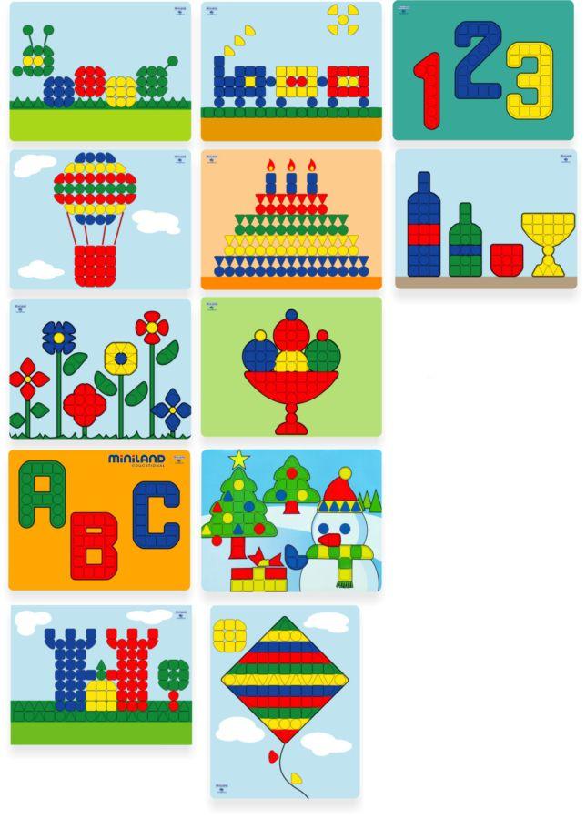 Mozaikové předlohy Miniland