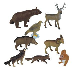 Lesní zvířata 8ks box Miniland