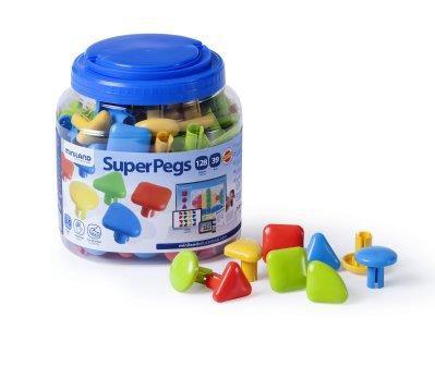 Mozaikové prvky Superpegs 128ks Miniland