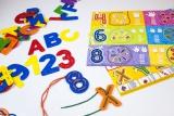 Prošívání ABC + číslice Miniland